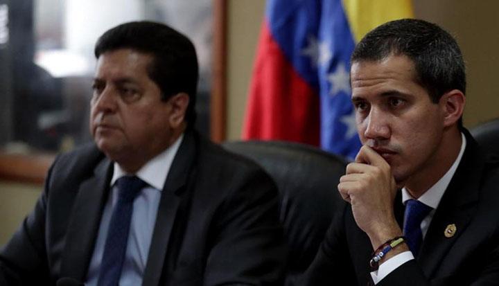 Édgar Zambrano y Juan Guaidó