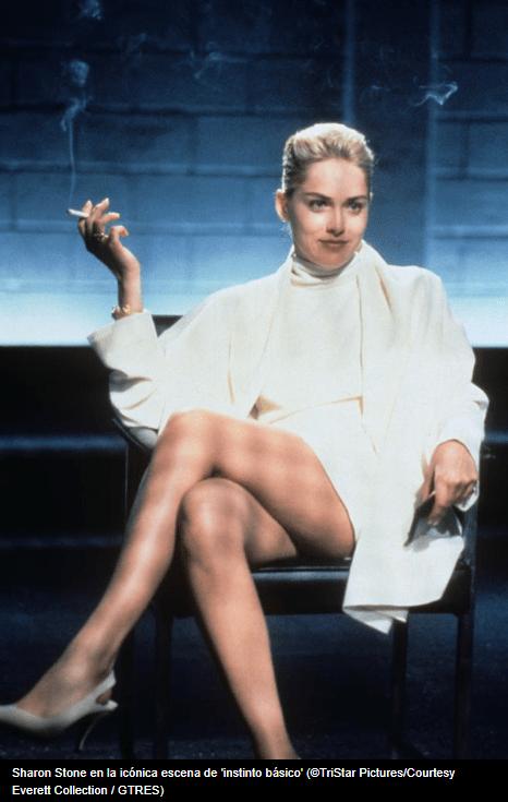 Sharon Stone en Bajos Instintos