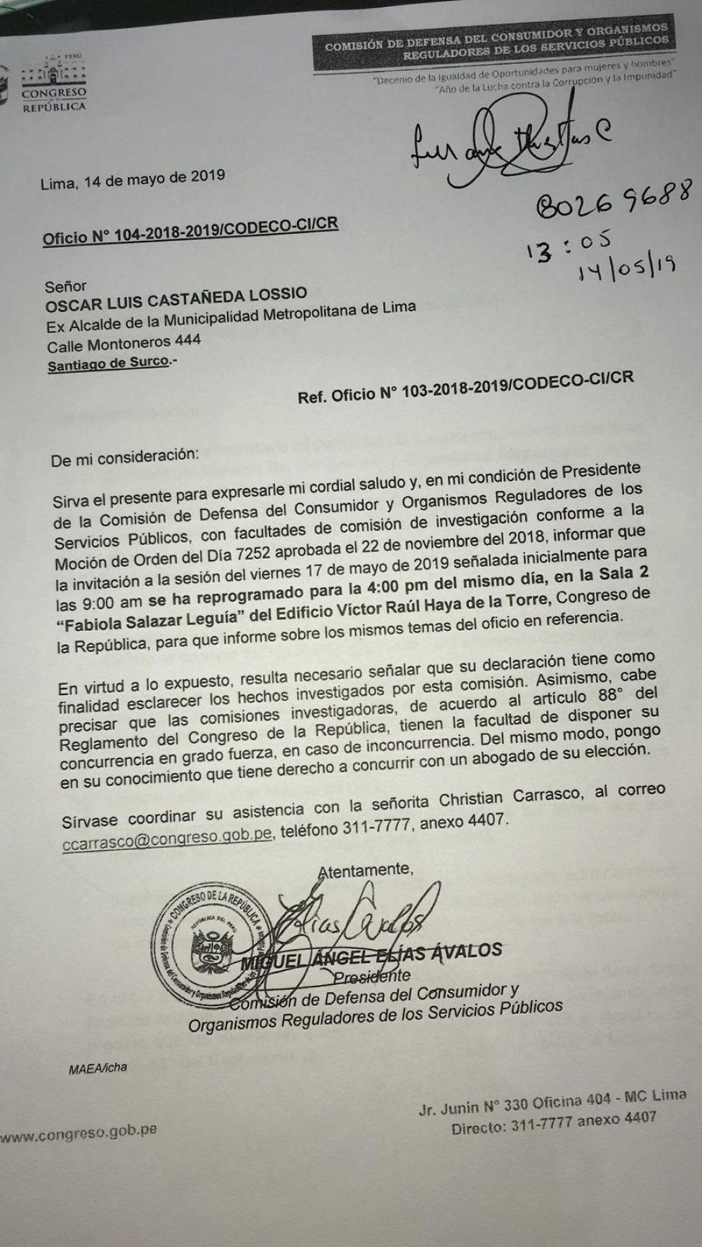 CITACION CASTAÑEDA