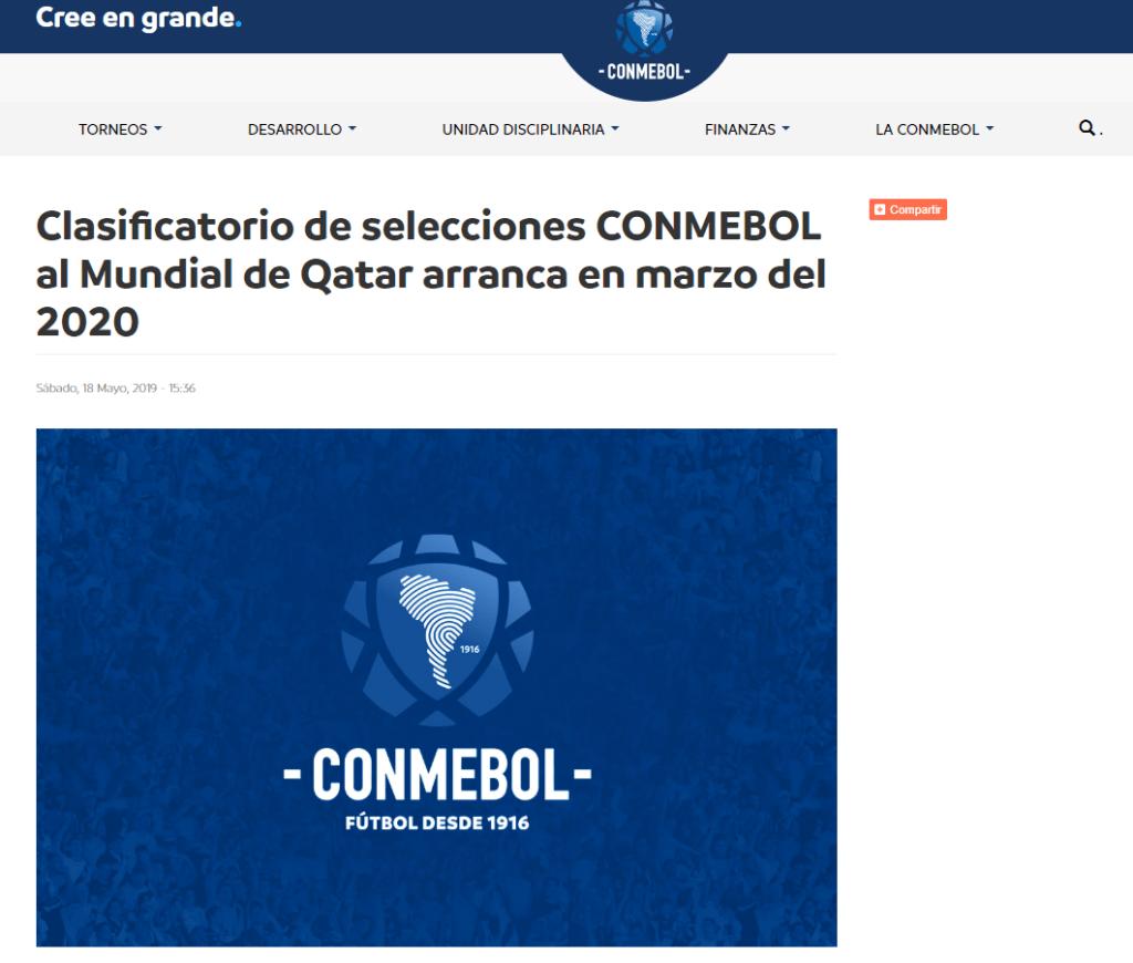 Calendario Eliminatorias Sudamericanas 2020.Seleccion Peruana Conmebol Confirmo Que Las Eliminatorias