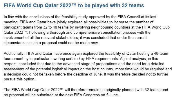 Comunicado FIFA