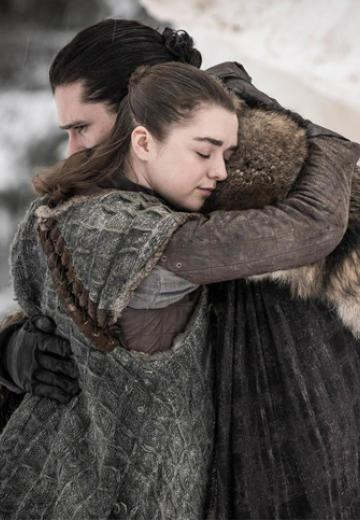 Jon Snow y Arya Stark