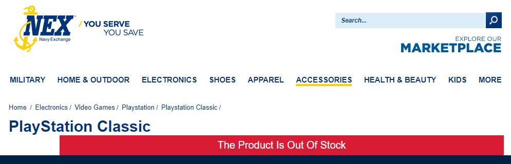 PlayStation Classic NEX Navy Exchange